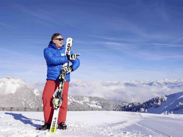 Skifahren mit Skilegende Franz Klammer