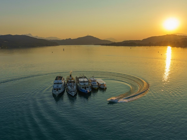 three ships & three cultures & one lake! the Wörthersee as an exclusive stage for your event